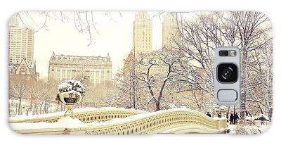 New York Snow Photographs Galaxy Cases