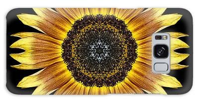 Yellow And Brown Sunflower Flower Mandala Galaxy Case