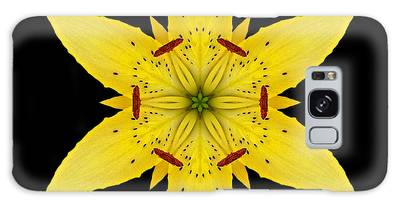 Yellow Lily I Flower Mandala Galaxy Case