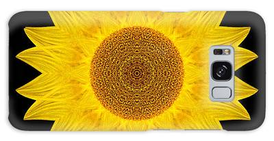 Yellow Sunflower Ix Flower Mandala Galaxy Case