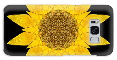 Yellow Sunflower X Flower Mandala Galaxy Case