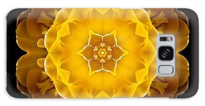 Yellow Tulip II Flower Mandala Galaxy Case