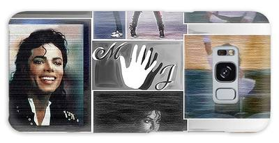 Galaxy Case featuring the digital art Michael Jackson by Ericamaxine Price