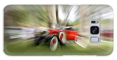 Red Antique Car Galaxy Case