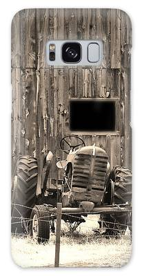 Tractor And The Barn Galaxy Case