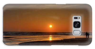 Enjoying The Sunset Galaxy Case