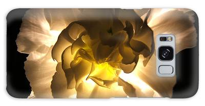 Illuminated White Carnation Photograph Galaxy Case