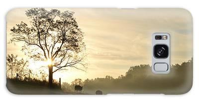 Pasture Sunrise Galaxy Case