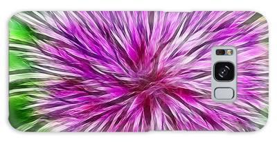Purple Flower Fractal Galaxy Case