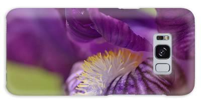 Purple Iris 1 Galaxy Case