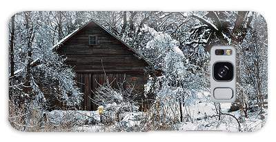 Snow Covered Barn Galaxy Case