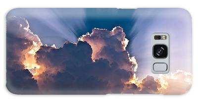 Sun Rays And Clouds Galaxy Case