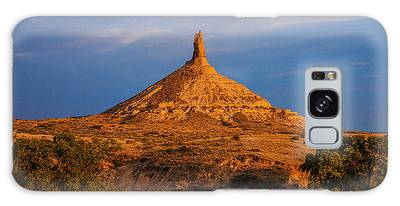 Sunrise At Chimney Rock Galaxy Case
