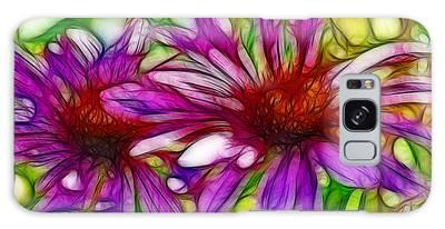 Two Purple Daisy's Fractal Galaxy Case