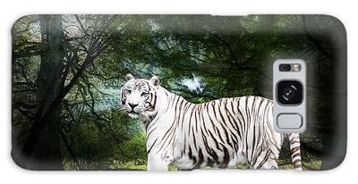 White Bengal Galaxy Case