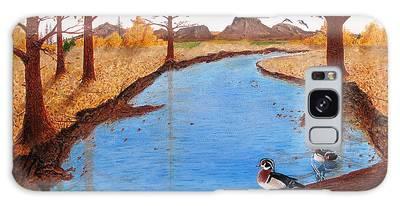 Wood Ducks On Jacobs' Creek Galaxy Case