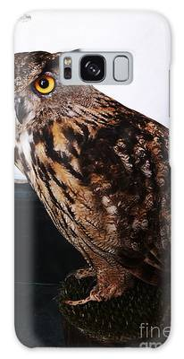Yellow-eyed Owl Side Galaxy Case