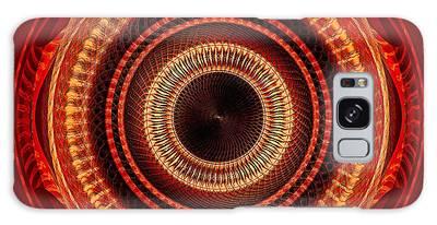Galaxy Case featuring the digital art #091520152 Orange Version by Visual Artist Frank Bonilla