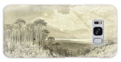 Scotland Landscape Drawings Galaxy Cases
