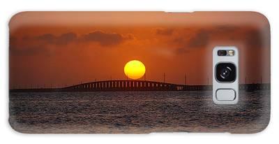 Sunset Seven Mile Bridge Galaxy Case