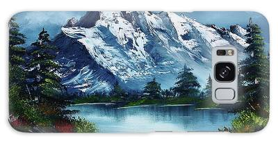 Bob Ross Paintings Galaxy Cases