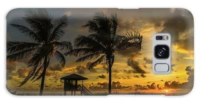 Two Palm Sunrise Delray Beach Florida Galaxy Case