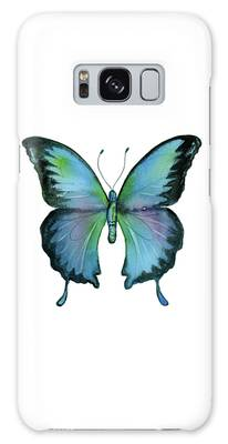 12 Blue Emperor Butterfly Galaxy Case