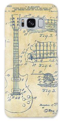 Vintage Patent Drawings Galaxy Cases