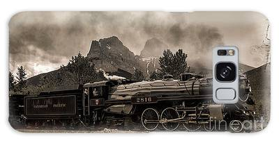 Galaxy Case featuring the photograph 2816 Empress At Three Sisters - Canmore by Brad Allen Fine Art
