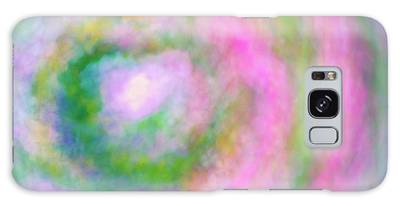 Galaxy Case featuring the photograph Impression Series - Floral Galaxies by Ranjay Mitra