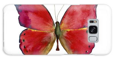 83 Red Glider Butterfly Galaxy Case