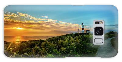 A Montauk Lighthouse Sunrise Galaxy Case