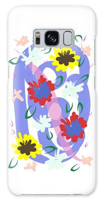Galaxy Case featuring the digital art Abstract Garden #1 by Bee-Bee Deigner
