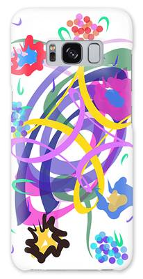 Galaxy Case featuring the digital art Abstract Garden #2 by Bee-Bee Deigner
