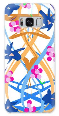 Galaxy Case featuring the digital art Abstract Garden #3 by Bee-Bee Deigner