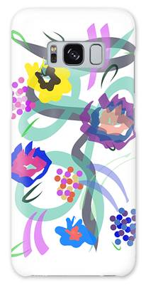 Galaxy Case featuring the digital art Abstract Garden Nr 4 by Bee-Bee Deigner