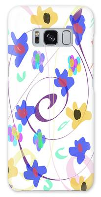 Galaxy Case featuring the digital art Abstract Garden Nr 7 Naif Style by Bee-Bee Deigner