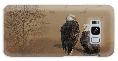 Galaxy Case featuring the photograph American Bald Eagle Family by Patti Deters
