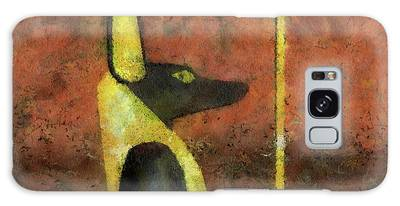 Anubis Paintings Galaxy Cases