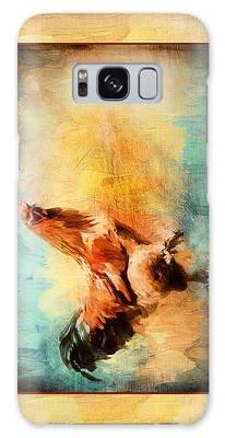 Buff Brahma Mrs. Darwin's Rooster  Galaxy Case