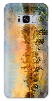 Sunset Over The Okefenokee Galaxy Case