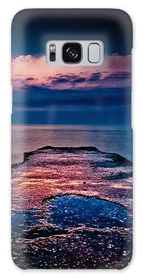 Galaxy Case featuring the photograph Ashbridges Bay Toronto Canada Dock At Sunrise No 1 by Brian Carson