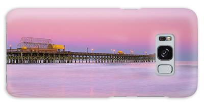 Galaxy Case featuring the photograph Atlantic Ocean And The Apache Pier At Sunset In South Carolina by Ranjay Mitra