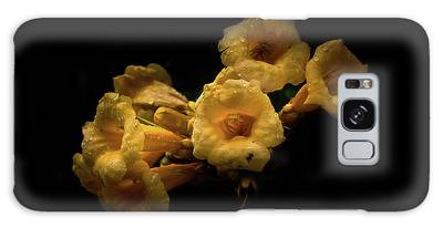 Galaxy Case featuring the photograph Backyard Flowers 63 Color Version by Brian Carson