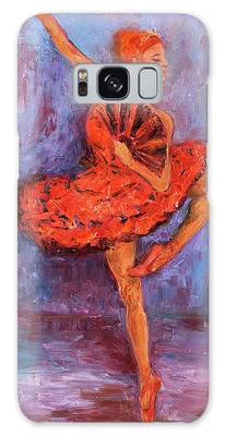 Ballerina Dancing With A Fan Galaxy Case
