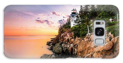 Galaxy Case featuring the photograph Bass Harbor Lighthouse Sunset by Ranjay Mitra