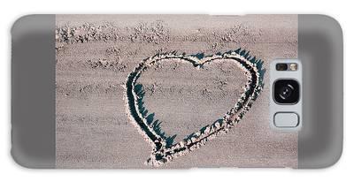 Beach Heart Galaxy Case
