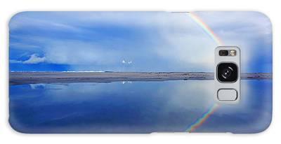 Beach Rainbow Reflection Galaxy Case