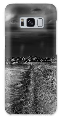 Galaxy Case featuring the photograph Beaches Park Toronto Canada Breakwall No 1 by Brian Carson