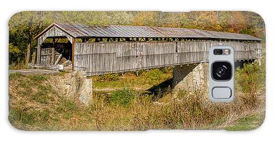 Beech Fork Or Mooresville Covered Bridge Galaxy Case